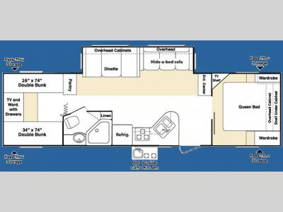 Floorplan - 2007 Keystone RV Outback Sydney Edition 31RQS