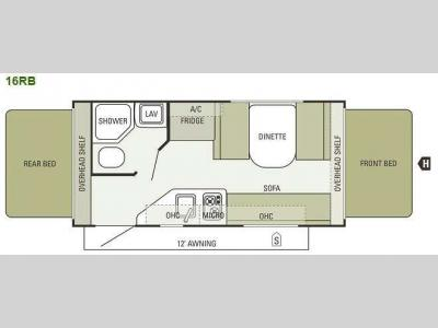 Floorplan - 2013 Starcraft  Launch 16RB