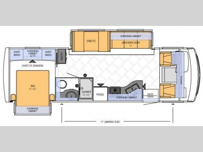 Floorplan - 2013 Newmar Bay Star 2901
