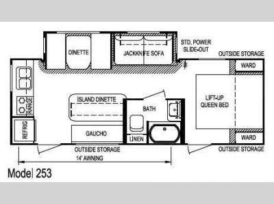Floorplan - 2013 Skyline Layton Joey Select 253