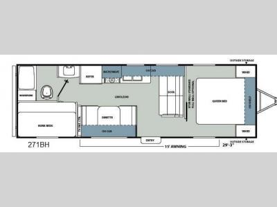 Floorplan - 2012 Coachmen RV Catalina Santara Series 271BH