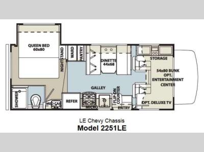 Floorplan - 2012 Forest River RV Forester LE 2251LE Chevy