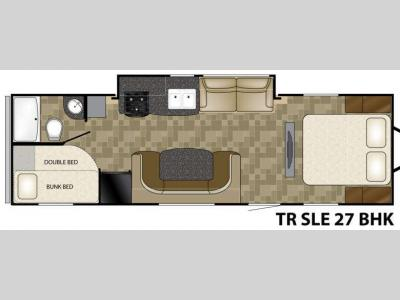 Floorplan - 2013 Heartland Trail Runner SLT 27BHK SLE