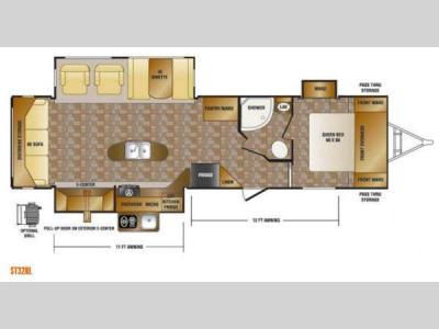 Floorplan - 2013 CrossRoads RV Sunset Trail Reserve ST32RL