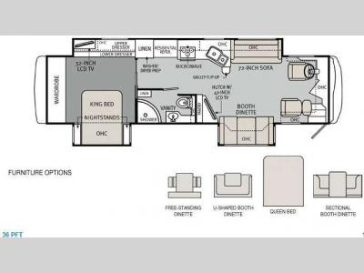 Floorplan - 2013 Holiday Rambler Ambassador 36PFT