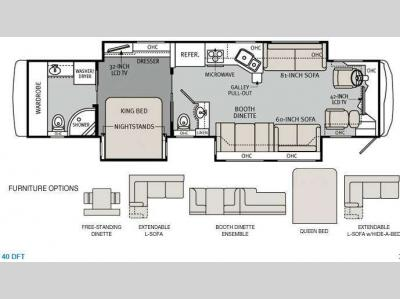 Floorplan - 2013 Holiday Rambler Ambassador 40DFT