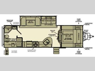 Floorplan - 2013 EverGreen RV Ever-Lite 34BHK-DS