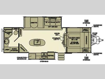 Floorplan - 2013 EverGreen RV Ever-Lite 30KIS-DS