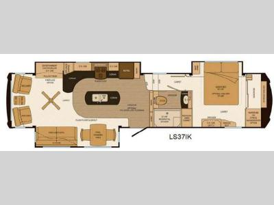 Floorplan - 2013 Lifestyle Luxury RV Lifestyle LS37IK