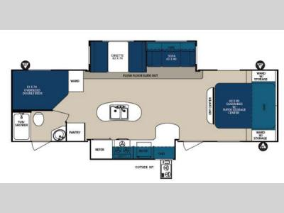 Floorplan - 2013 Forest River RV Surveyor Sport SP 296
