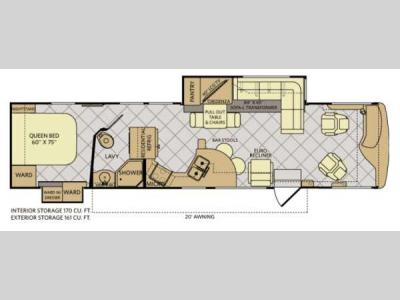 Floorplan - 2013 Fleetwood RV Excursion 35B
