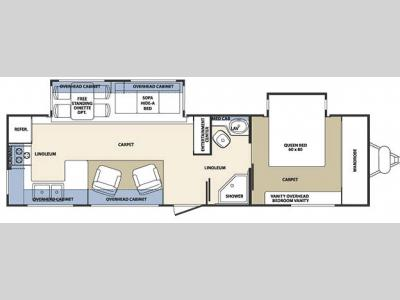Floorplan - 2007 Forest River RV Cardinal T31RKT