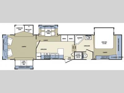 Floorplan - 2007 Forest River RV Cardinal 37RL