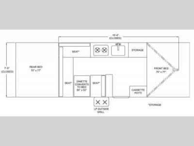 Floorplan - 2013 Columbia Northwest Somerset Camping Trailers E2