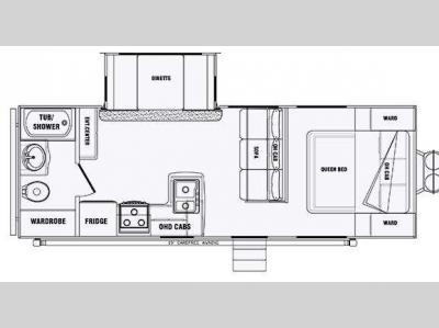 Floorplan - 2013 Pacific Coachworks Panther 24RBS Widelite