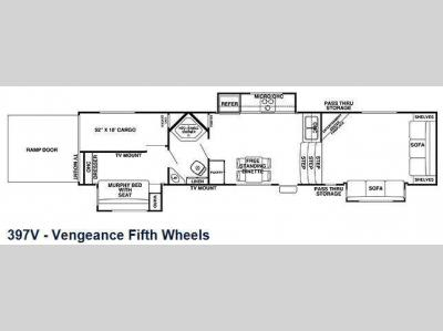 Floorplan - 2013 Forest River RV Cherokee Vengeance 397V