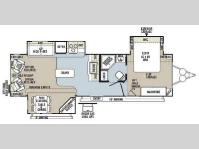 Floorplan - 2013 Forest River RV Rockwood Signature Ultra Lite 8329SS