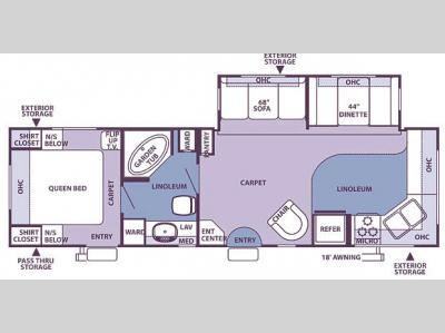 Floorplan - 2007 Forest River RV Rockwood 8315SS