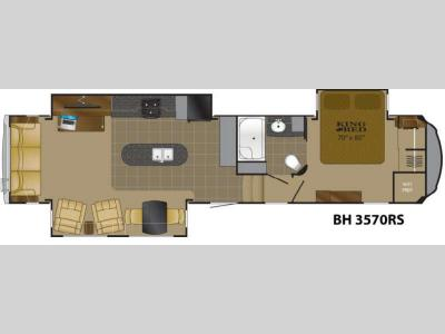 Floorplan - 2013 Heartland Bighorn 3570RS