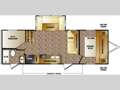 Floorplan - 2013 CrossRoads RV Cruiser Aire CTL28FB