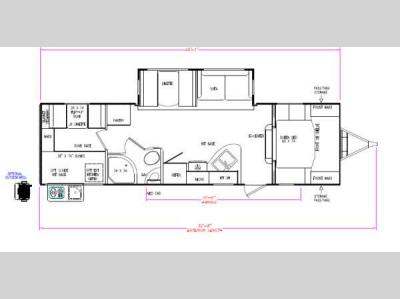 Floorplan - 2013 CrossRoads RV Sunset Trail Reserve ST290QB