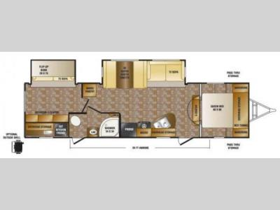 Floorplan - 2013 CrossRoads RV Hill Country HCT32BH