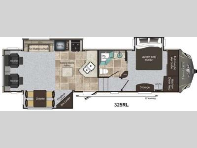 Floorplan - 2013 Keystone RV Montana High Country 325RL