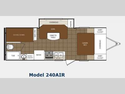 Floorplan - 2013 Prime Time Manufacturing Tracer 240AIR