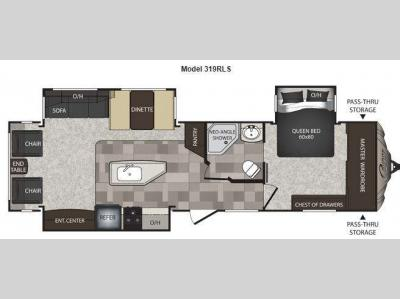 Floorplan - 2013 Keystone RV Cougar High Country 319RLS