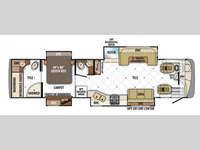 Floorplan - 2013 Forest River RV Berkshire 390RB