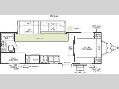 Floorplan - 2006 Forest River RV Wildwood LA 272BHSS