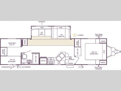 Floorplan - 2006 Forest River RV Wildwood LA 322QBSS