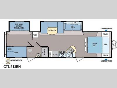 Floorplan - 2013 Dutchmen RV Coleman Explorer CTU313BH