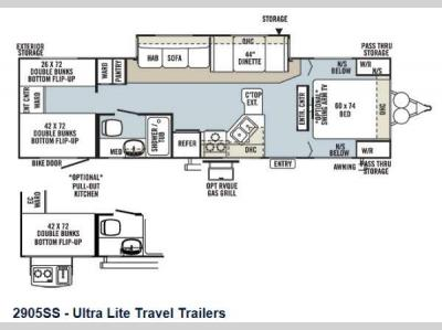 Floorplan - 2013 Forest River RV Rockwood Ultra Lite 2905SS