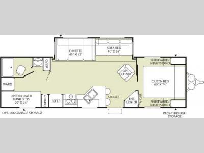 Floorplan - 2006 Fleetwood RV Wilderness 300BHS