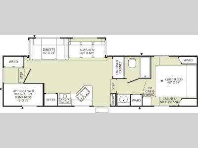 Floorplan - 2006 Fleetwood RV Wilderness 2952BS