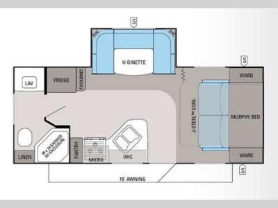 Floorplan - 2013 Jayco Jay Feather Ultra Lite 20M