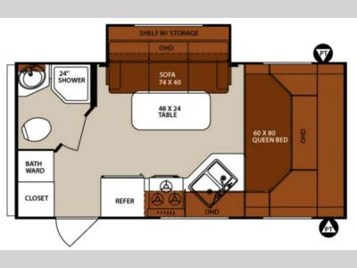 Floorplan - 2013 Forest River RV Surveyor Cadet SC 189