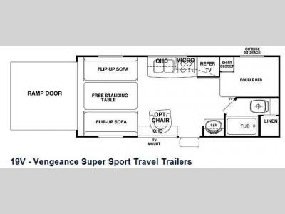 Floorplan - 2013 Forest River RV Cherokee Vengeance 19V