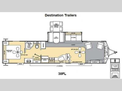 Floorplan - 2013 Coachmen RV Catalina Destination Series 38FL