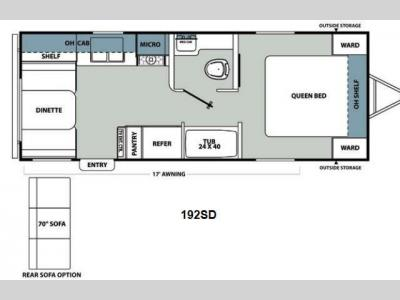Floorplan - 2013 Coachmen RV Catalina Santara Series 192SD