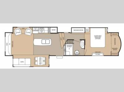 Floorplan - 2013 Forest River RV Cedar Creek 38RE