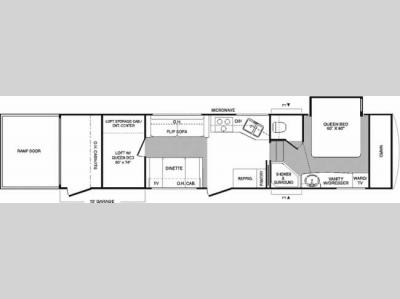 Floorplan - 2006 Keystone RV Raptor 3310SS
