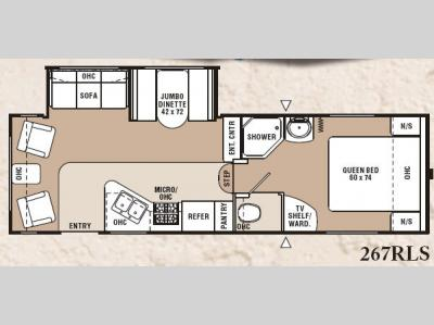 Floorplan - 2007 Coachmen RV Chaparral Lite 267RLS