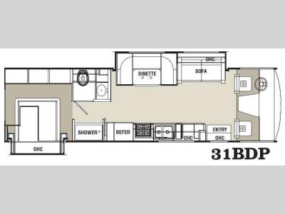 Floorplan - 2013 Coachmen RV Pursuit 31 BDP