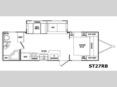 Floorplan - 2007 CrossRoads RV Sunset Trail 27 RB