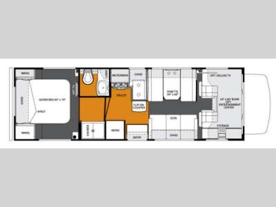 Floorplan - 2013 Forest River RV Forester 2901 Chevy