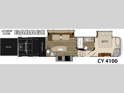 Floorplan - 2014 Heartland Cyclone 4100 King