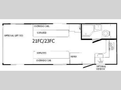 Floorplan - 2013 Sunset RV Rush 21FC