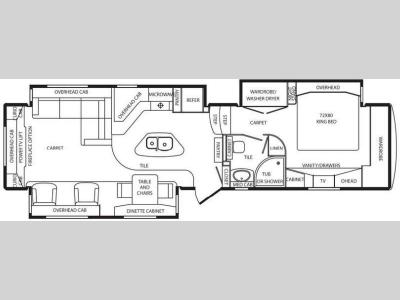 Floorplan - 2014 DRV Luxury Suites Mobile Suites 38 RESB3
